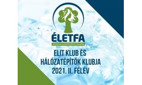 ÉLETFA ELIT KLUB ÉS HÁLÓZATÉPÍTŐK KLUBJA 2021. II. FÉLÉV